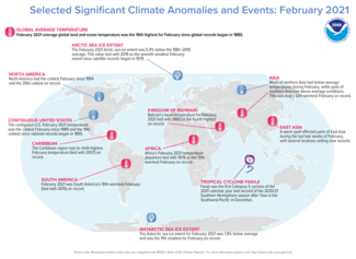 February 2021 Global Significant Climate Events Map