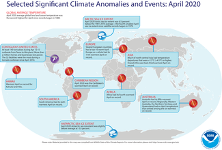 April 2020 Global Significant Events Map