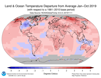 January-to-October-2019-Global-Departures-from-Average-Map