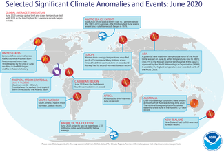 June 2020 Global Significant Climate Events Map