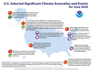 June 2020 Significant Events Map