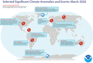 March 2020 Global Significant Events Map
