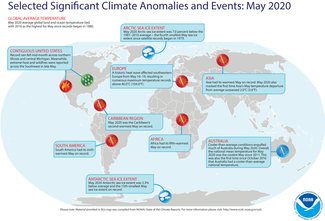 May 2020 Global Significant Climate Events Map
