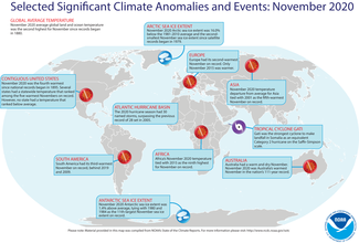 November 2020 Global Significant Climate Events Map