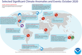 October 2020 Global Significant Climate Events Map