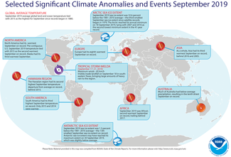 Map of September 2019 Significant Climate Events