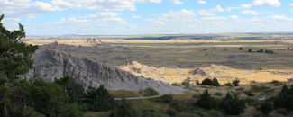 Photo of the Badlands in South Dakota