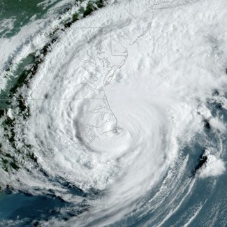 Satellite image of Hurricane Dorian from Sept 2019