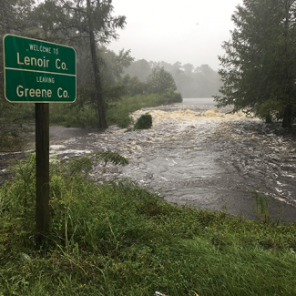 Photo of Flooding in Kinston North Carolina on September 14 2018 Courtesy of The National Guard
