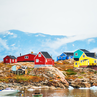 Picture of houses in Greenland