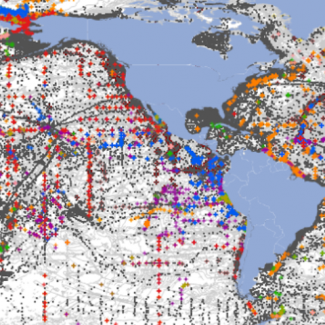 Image of dbSEABED data from July 2015 by Instaar, University of Colorado