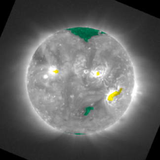 Photo of solar features classification image from NOAA NCEI