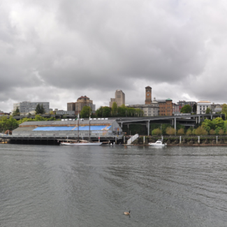 Photo of Thea Foss Waterway and Tacoma skyline