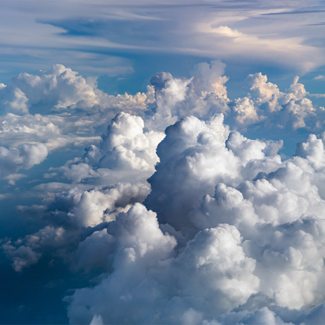 Photo of clouds from an airplane