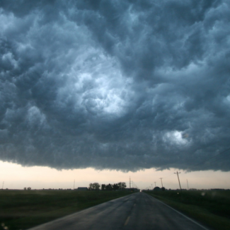 Image of supercell storm near Enid, Oklahoma, from NOAA