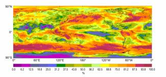 Image of cloud properities from ISCCP by NCEI