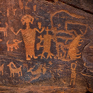 Picture of petroglyph