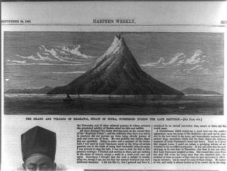 Newspaper Clipping of Krakatau in 1883.