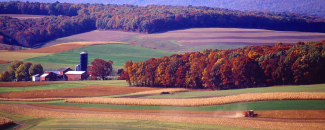 Picture of autumn landscape in Pennsylvania by Pixabay