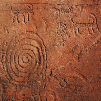 Picture of Native American rock art in Sedona