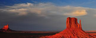 Photo of Monument Valley land formation
