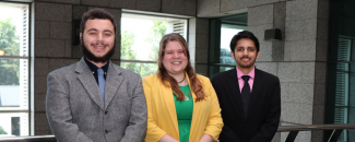 Photo of three NASA DEVELOP team scholars at NCEI, Summer 2019
