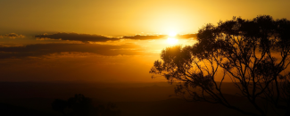 Photo of Australian outback and sunset