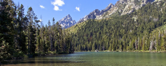 Photo of String Lake in Grand Tetons on clear day