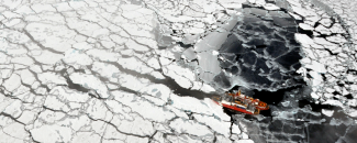 Image of Arctic sea ice by NOAA/NSIDC by Pablo Clemente-Colon