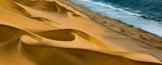 Picture of sand dunes in Namibia