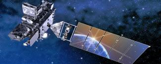 Image of an artist rendition of the GOES-R Satellite