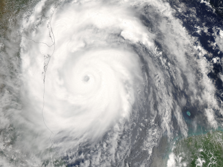 Satellite image of Hurricane Emily in 2005