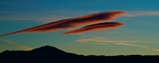 Image of lenticular cloud over Boulder by NOAA, Dennis Dickson