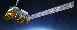 Rendering of JPSS-1 satellite from NOAA/NASA, Ball Corporation