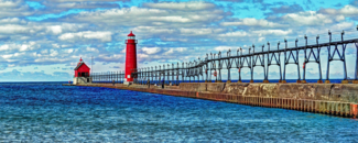 Picture of Grand Haven Pier and lighthouse Grand Haven, Michigan