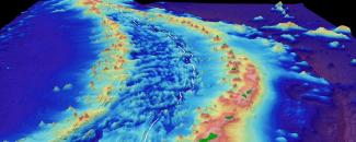 Bathymetry image of the Mariana Trench