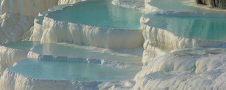 Picture of the Pamukkale thermal waters in Turkey