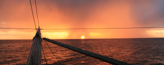 Picture of sunset squall by NOAA Fisheries, Christopher Sarro