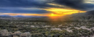 Picture of the Texas desert at sunset