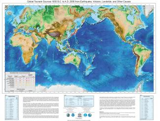 Map of 2008 Global Tsunami Sources