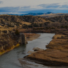 Photo of the Missouri River in Montana