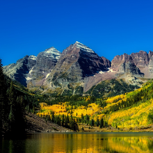 Photo of a Colorado landscape in autumn