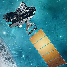Image of artistic rendering of NOAA satellite