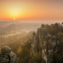 Photo of the Elbe Sandstone Mountains in the Czech Republic