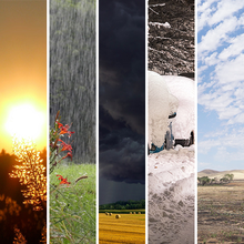 Photo collage of weather phenomena