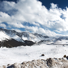 Photo of Loveland Pass, Colorado, in the snow
