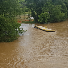 Photo of May 2018 flooding of the French Broad River in Asheville, North Carolina
