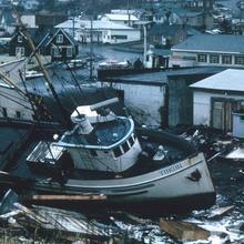 Great Alaska Earthquake destruction in Kodiak, Alaska