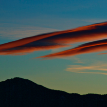 Image of lenticular cloud over Boulder by NOAA