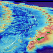 Bathymetric image of the Mariana Trench